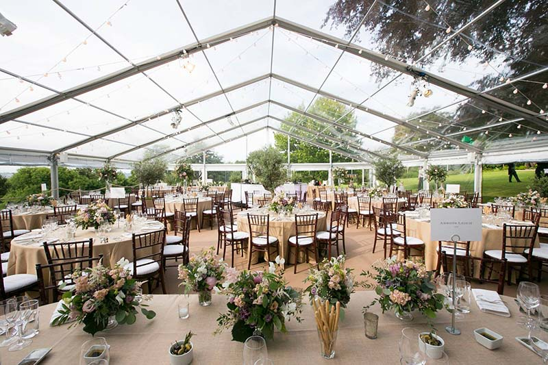 clear roof daytime Queensberry Event Hire