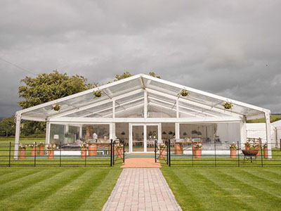 Queensberry Event Hire Clearspan Frame Marquee Hire