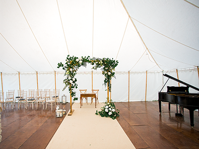 Queensberry Event Hire - Floral Wedding Arch Hire