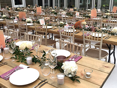 Queensberry Event Hire - Wooden Table Hire